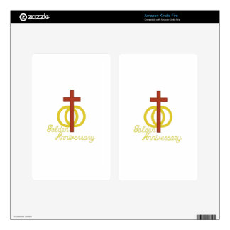 Golden Anniversary Decals For Kindle Fire