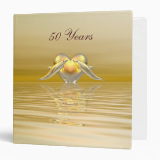 Golden Anniversary Dolphins and Heart Binders