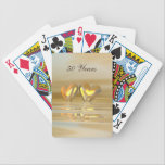 "Golden Anniversary Hearts Bicycle Playing Cards<br><div class=""desc"">An all-golden and yellow 3d scene with golden hearts floating on water. Customizable text says &quot;50 Years&quot;.</div>"