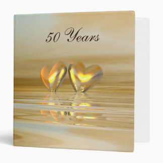 Golden Anniversary Hearts Binder
