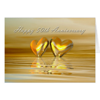 Golden Anniversary Hearts Card