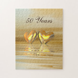 Golden Anniversary Hearts Jigsaw Puzzle