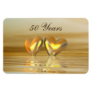 Golden Anniversary Hearts Magnet