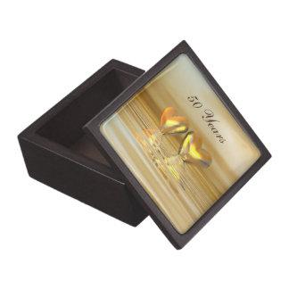Golden Anniversary Hearts Premium Trinket Box