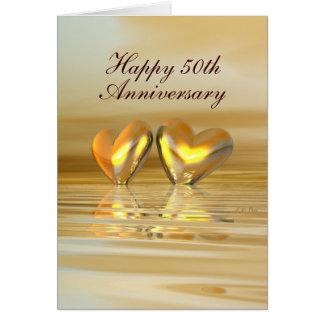 Golden Anniversary Hearts (Tall) Card