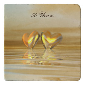Golden Anniversary Hearts Trivets