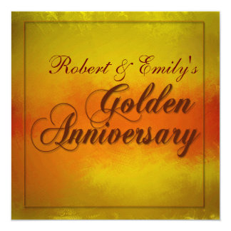 Golden Anniversary Personalized Invitations