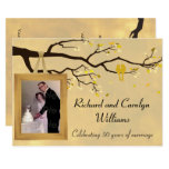 Golden Anniversary Love Birds Invitation at Zazzle