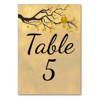 Golden Anniversary Lovebirds Table Card