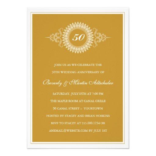 Golden anniversary invitations militaryalicious golden anniversary invitations stopboris Images