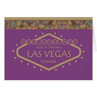 Golden Anniversary Party In Las Vegas Card