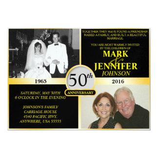 Golden Anniversary Pearl Shimmer Invitation