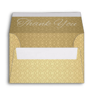 Golden Anniversary Thank You Note Card A6 Envelope