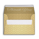 Golden Anniversary Thank You Note Card A6 Envelopes
