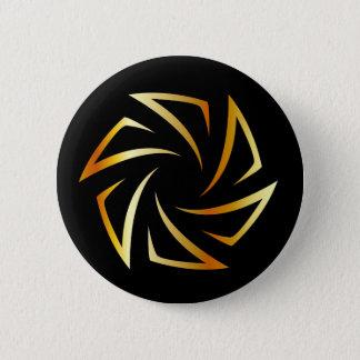 Golden aperture pinback button