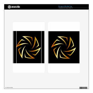 Golden aperture skins for kindle fire