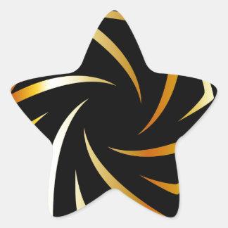 Golden aperture star sticker