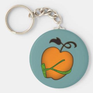 Golden Apple of Eris Basic Round Button Keychain