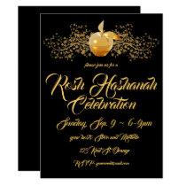 Golden Apple Rosh Hashanah Invitation