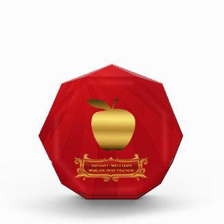 Golden Apple Teacher's Award Plaque