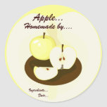 Golden Apples Homemade Product Label Classic Round Sticker