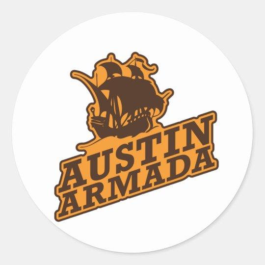 Golden Apples Sports Association Steelers Under 14 Classic Round Sticker