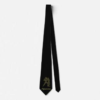 Golden Aquarius Neck Tie