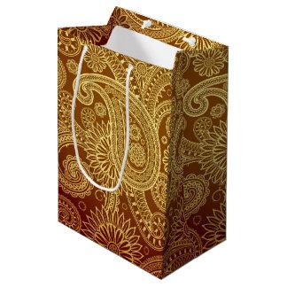 Golden Arabesque Medium Gift Bag