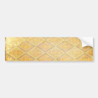 GOLDEN ARGYLE DIAMOND SHAPES PATTERNS DIGITAL TEMP BUMPER STICKER