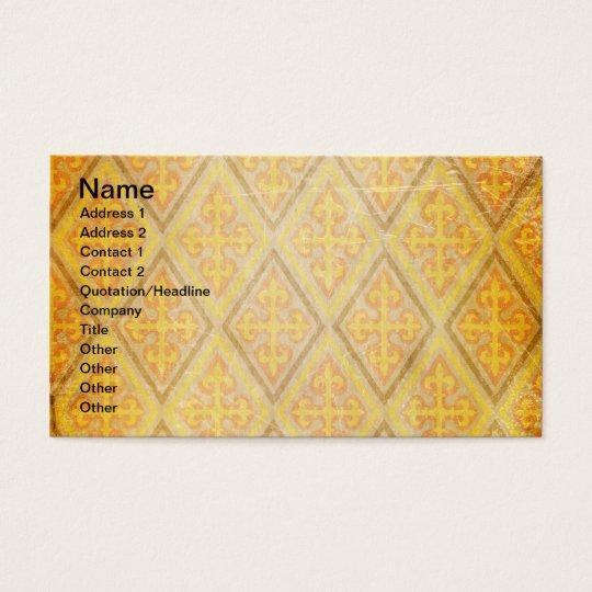 GOLDEN ARGYLE DIAMOND SHAPES PATTERNS DIGITAL TEMP BUSINESS CARD