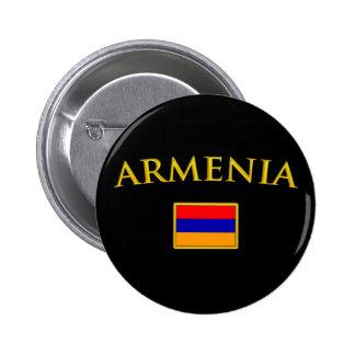 Golden Armenia Pinback Button