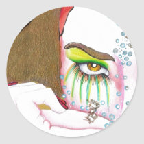 artsprojekt, illustration, sticker, modern, eye, aroma, perfume, balm, fragrance, incense, look, see, watch, watching, vision, design, woman, portrait, girl, female, lady, art, drawing, pencil, perception, eyesight, perceiving, view, seeing, sight, balminess, bouquet, cologne, eau, essence, odor, Sticker with custom graphic design