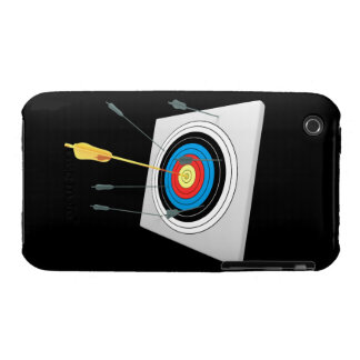 Golden arrow in a target iPhone 3 Case-Mate cases