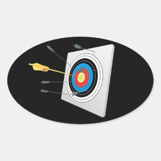 Golden arrow in a target stickers