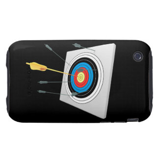 Golden arrow in a target tough iPhone 3 case