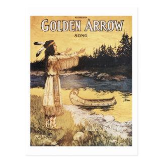 Golden Arrow Song Vintage Songbook Cover Postcard