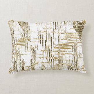 Golden Art Deco Decorative Pillow