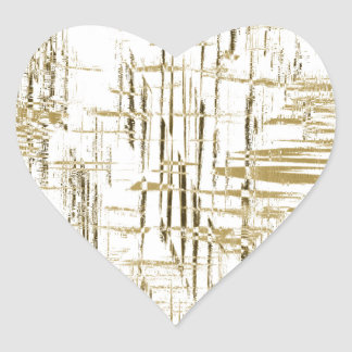 Golden Art Deco Heart Sticker
