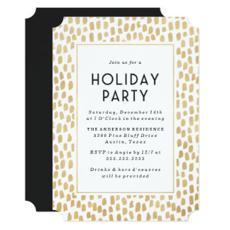 Golden Art Deco | Holiday Party Invitation