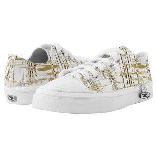 Golden Art Deco Low-Top Sneakers