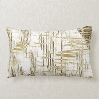 Golden Art Deco Lumbar Pillow