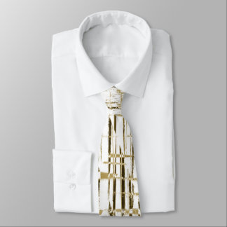 Golden Art Deco Neck Tie