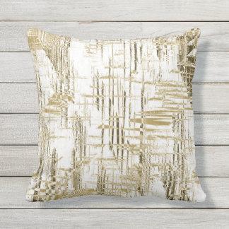 Golden Art Deco Throw Pillow
