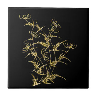 Golden artichoke tile