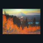 "Golden Aspens Above Snake River At Sunset Canvas Print<br><div class=""desc"">Larry Ditto / DanitaDelimont.com USA,  North America,  Wyoming</div>"