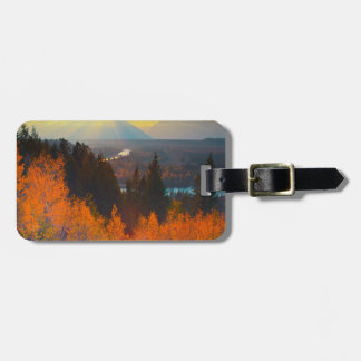 Golden Aspens Above Snake River At Sunset Luggage Tag