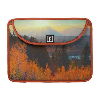 Golden Aspens Above Snake River At Sunset Sleeve For MacBook Pro