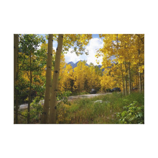 Golden Aspens and the Maroon Bells Wrapped Canvas