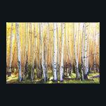 "Golden Aspens Canvas Print<br><div class=""desc"">Aspens near Alpine Arizona</div>"