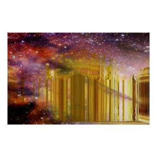 Golden Astral Palace Poster
